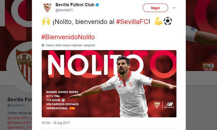 Siviglia, UFFICIALE: preso Nolito