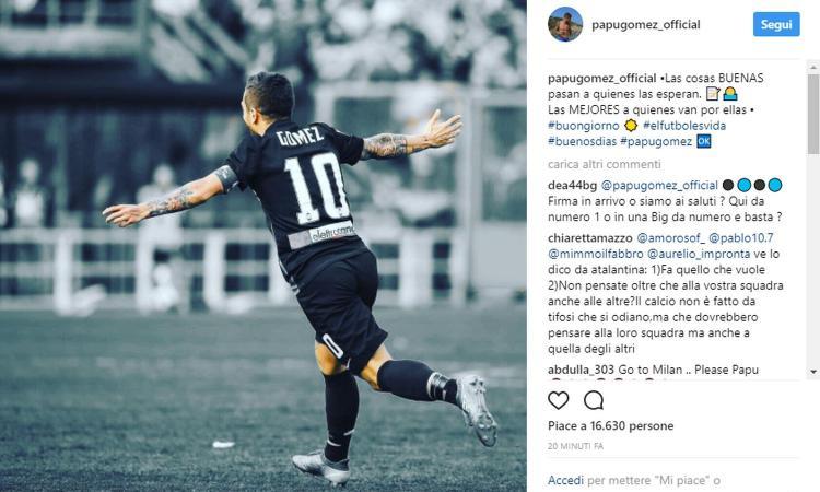 Atalanta, messaggio del Papu Gomez su Instagram: rinnovo in arrivo?