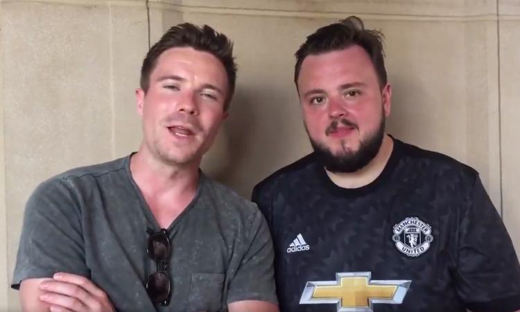 Manchester United, Sam e Gendry di Game Of Thrones in visita alla squadra VIDEO
