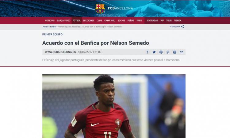 Barcellona, UFFICIALE: preso Semedo
