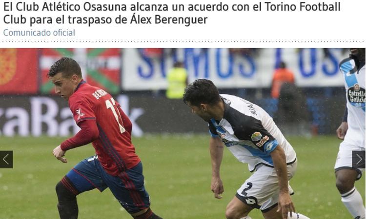 UFFICIALE: Berenguer al Torino, beffato il Napoli. Ora Duvan Zapata...