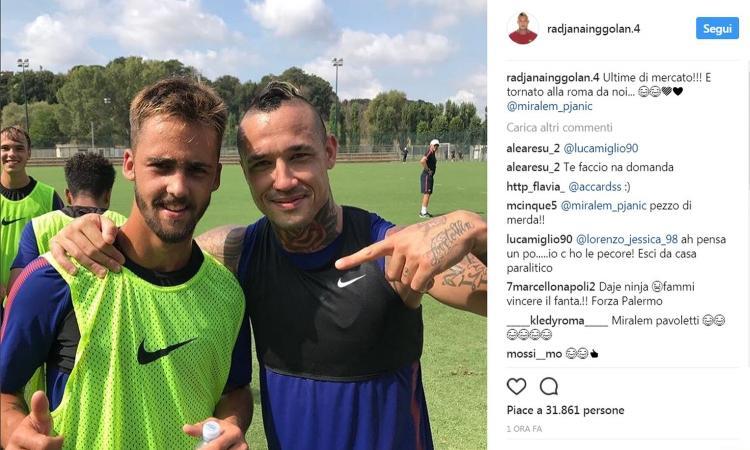 Nainggolan fa arrabbiare ancora i tifosi della Juve: 'Pjanic è tornato alla Roma!'