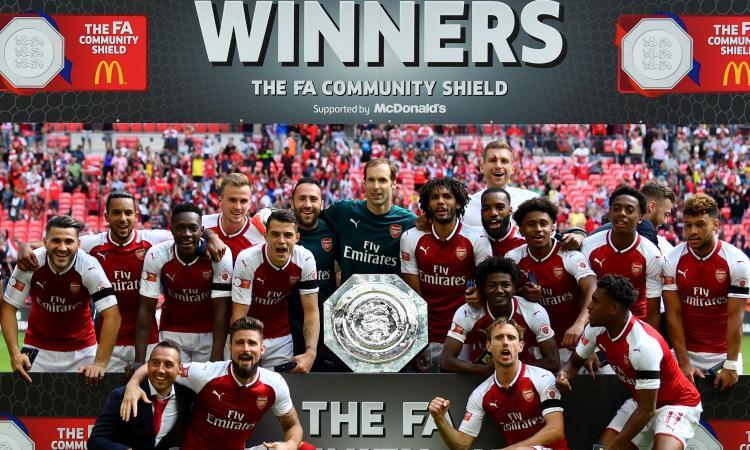 L'Arsenal vince ai rigori il Community Shield! Sbagliano Courtois e Morata