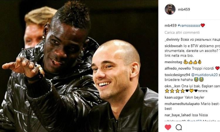 Nizza: arriva Sneijder, Balotelli esulta