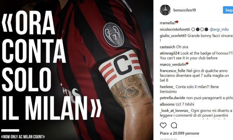 Bonucci: 'Ora conta solo il Milan'