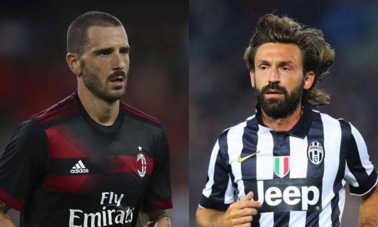 Sei differenze tra Bonucci e Pirlo