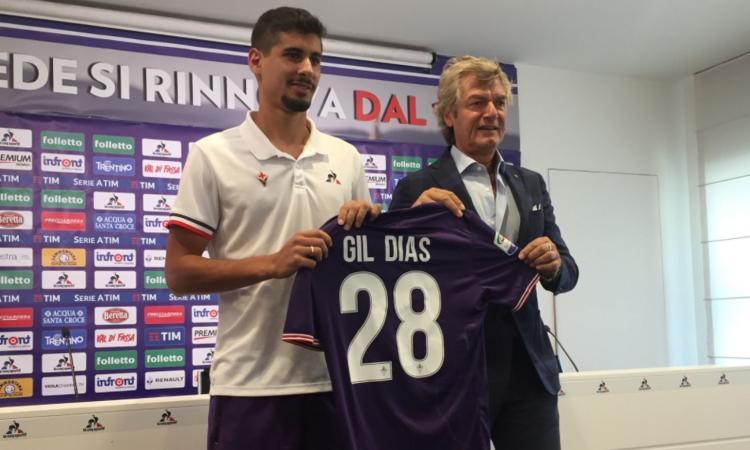 La Fiorentina e Gil Dias, due anni e un riscatto d'oro per far dimenticare Tello