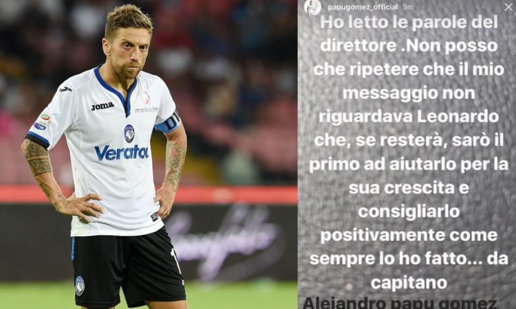 Atalanta, Gomez risponde a Marotta: 'Sono un capitano vero...E non mi riferivo a Spinazzola'
