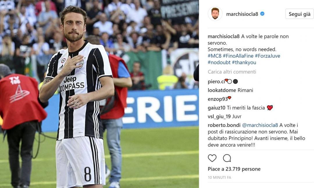 Marchisio, leader silenzioso: vincerai la tua battaglia.