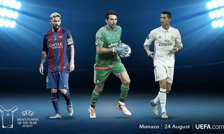 UFFICIALE: giocatore dell'anno UEFA, Buffon sfida Messi e Cristiano Ronaldo