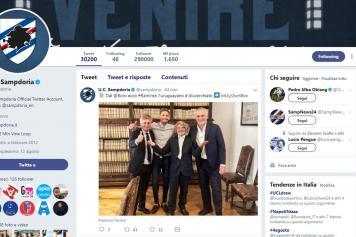 ramirez, sampdoria, ufficiale, twitter, 2017/18