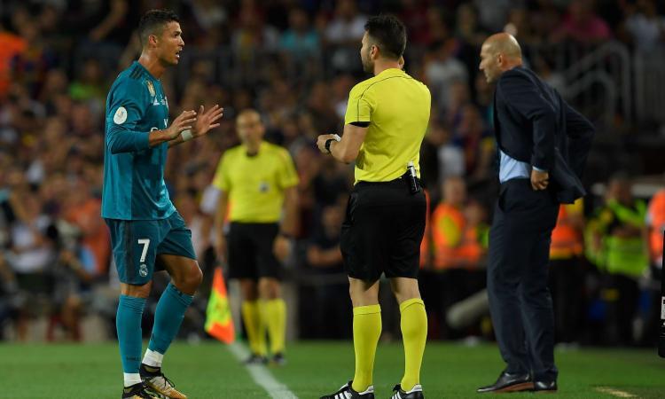 Supercoppa di Spagna, 3-1 Real al Barcellona: Ronaldo, gol e rosso