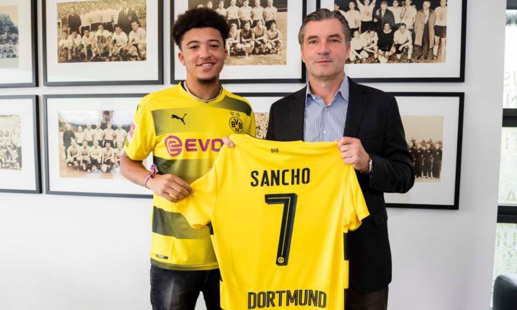 Borussia Dortmund, UFFICIALE: preso il 2000 Sancho dal Manchester City