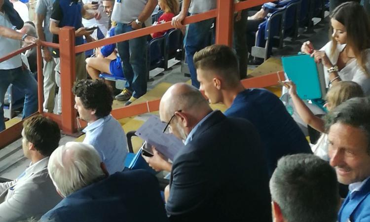 Sampdoria, quanto calciomercato in tribuna con l'agente di Schick e il ds del Newcastle