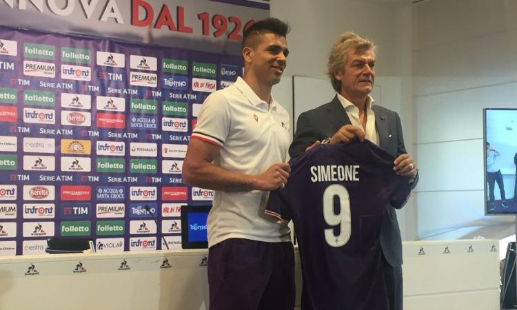 Fiorentina, Simeone si presenta: 'Qui gli argentini sono diventati grandissimi, ma non sono Batistuta'