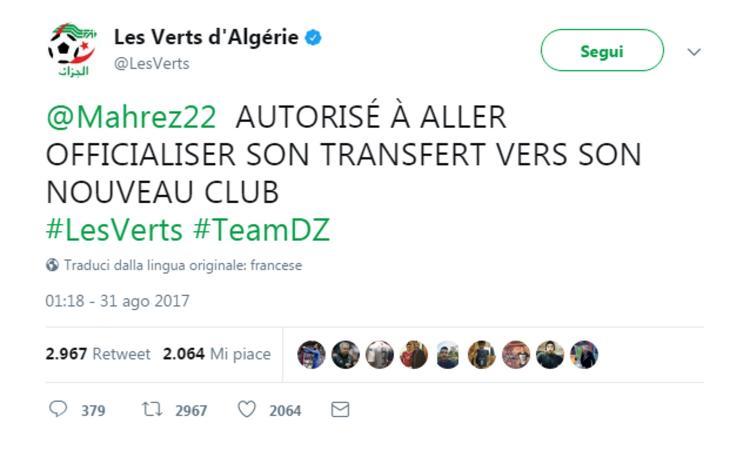 'Mahrez autorizzato a ufficializzare la nuova squadra': Barcellona, Chelsea o...