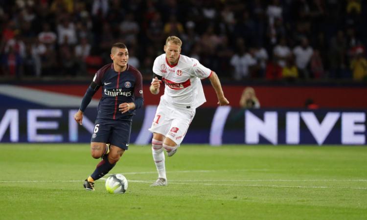 Insulti all'arbitro durante PSG-Tolosa: tre turni di squalifica per Verratti