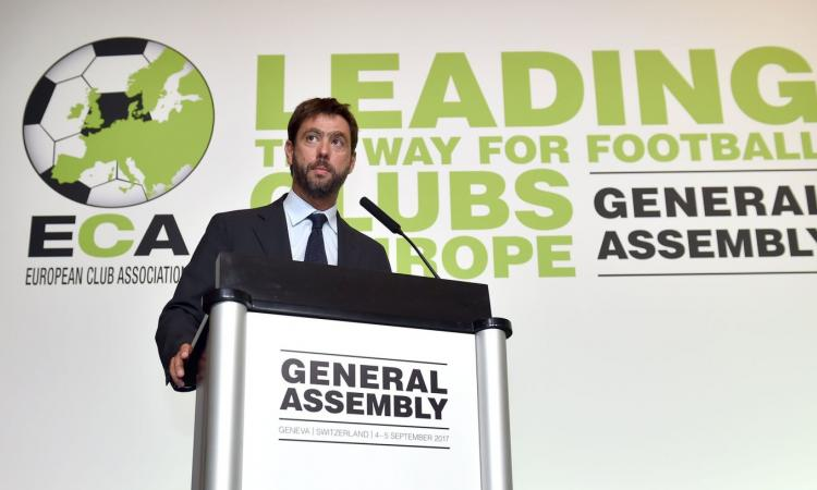 ECA, Agnelli vuole la riduzione a 18 squadre dei massimi campionati europeei: club contrari