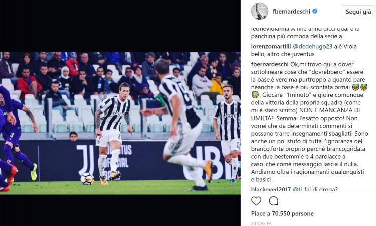 Bernardeschi infuriato con i tifosi della Fiorentina: 'Bestemmie e ignoranza'