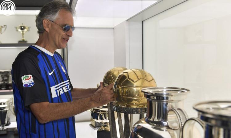Bocelli: 'Sono interista dai tempi della Grande Inter. Zanetti un esempio per tutti, è l'unico capitano'