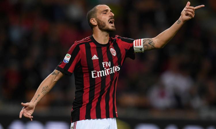 Milan, Bonucci supera i mille minuti giocati