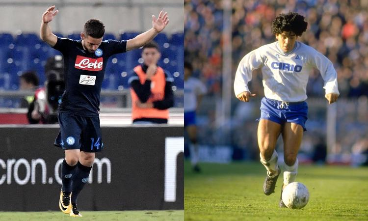 Napoli: Mertens e la sublime arte del pallonetto che ricorda Maradona