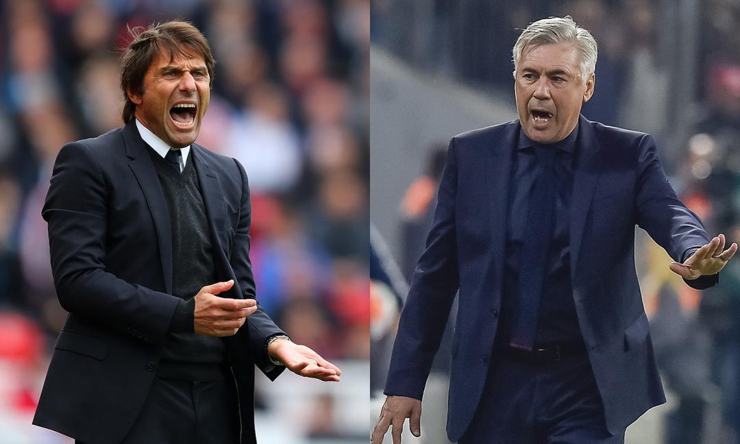Conte-Ancelotti, che divario: la storia si capovolge?