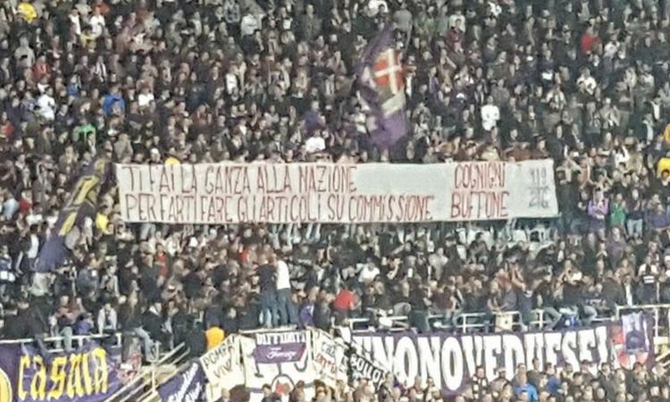 Fiorentina, la curva contro il presidente Cognigni: 'Buffone!' FOTO