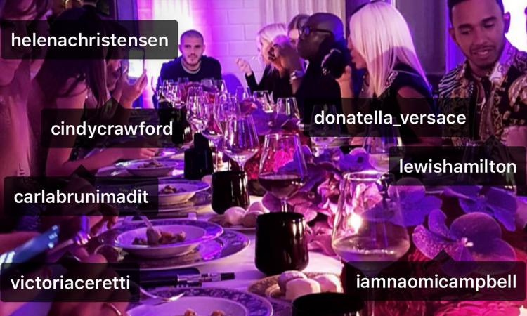 Icardi a cena con le top model FOTO