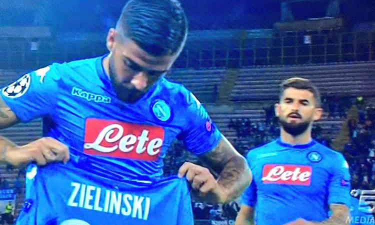 Momenti Di Gioia: Insigne dedica il gol a Milik, Zielinski gli dà la maglia errata