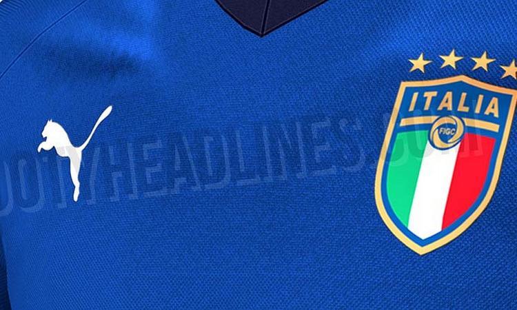 Italia, svelata la nuova maglia per il Mondiale. La FIGC col nuovo logo a 4 stelle FOTO