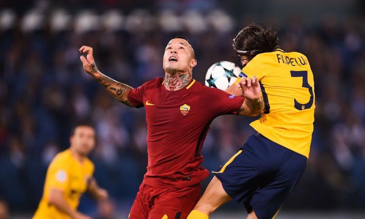 Roma-Atletico Madrid, le pagelle di CM: Nainggolan lotta, Koke brilla