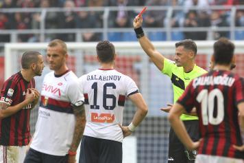Bonucci Milan espulso Giacomelli arbitro
