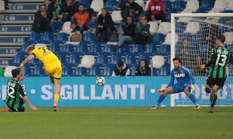 Sassuolo-Udinese 0-1: il tabellino VIDEO