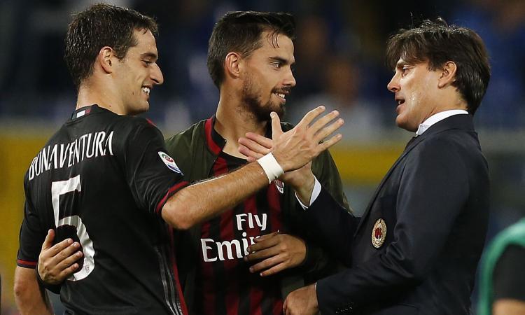 Milan, rieccoli: Montella prova Suso e Bonaventura, 3-4-2-1 in vista del derby
