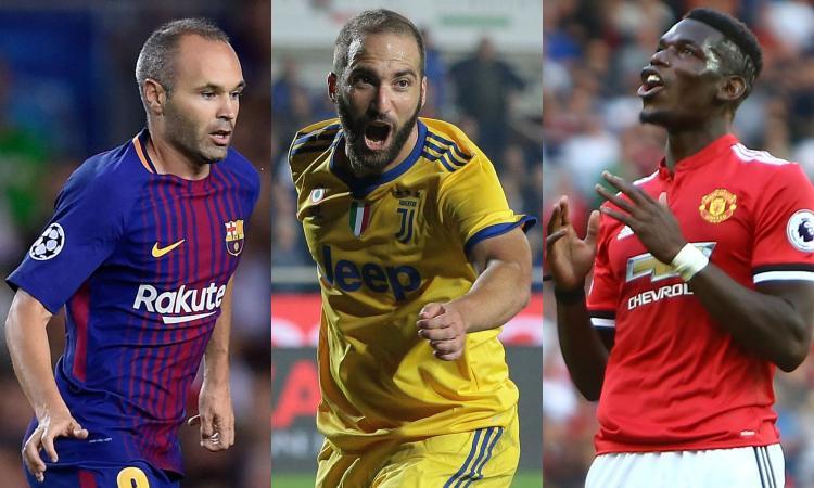 Da Iniesta e Pogba a Piqué e Higuain: la top 11 degli esclusi dal Pallone d'Oro