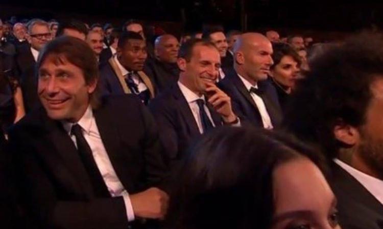 Juve, quella FOTO premonitrice: Conte, Allegri e Zidane come passato, presente e futuro?