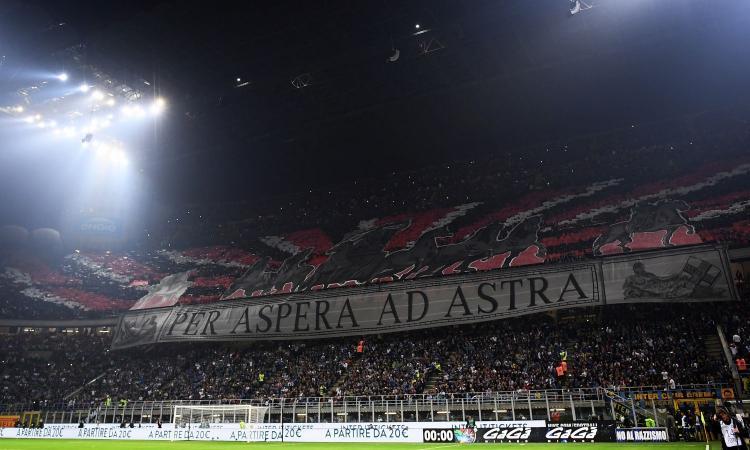 Milan, ecco la coreografia della Curva Sud per il derby