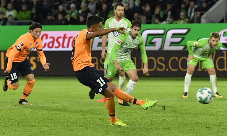 Bundesliga: Demirbay non basta, Wolfsburg-Hoffenheim 1-1