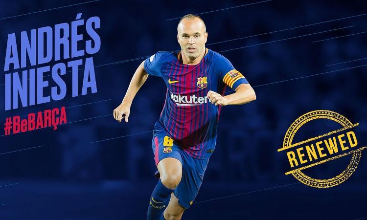 Barcellona, UFFICIALE: rinnovo a vita per Iniesta. Sfuma l'ipotesi Juve VIDEO