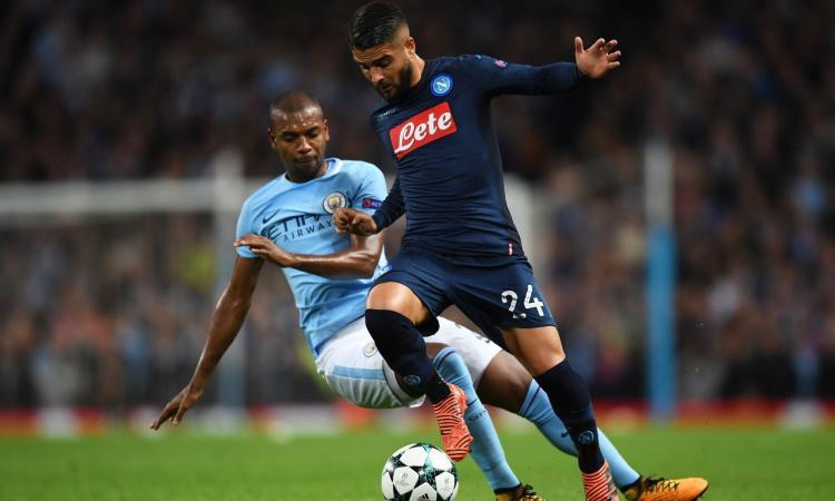 Napoli, problema muscolare per Insigne: a rischio il match con l'Inter