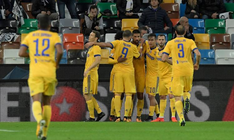 Juve cuore e grinta: in 10 dal 26' vince 6-2 contro l'Udinese. Napoli a 3 punti
