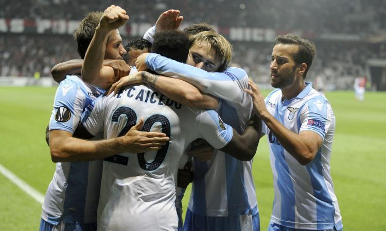 Lazio, 3-1 a Nizza: qualificazione vicina
