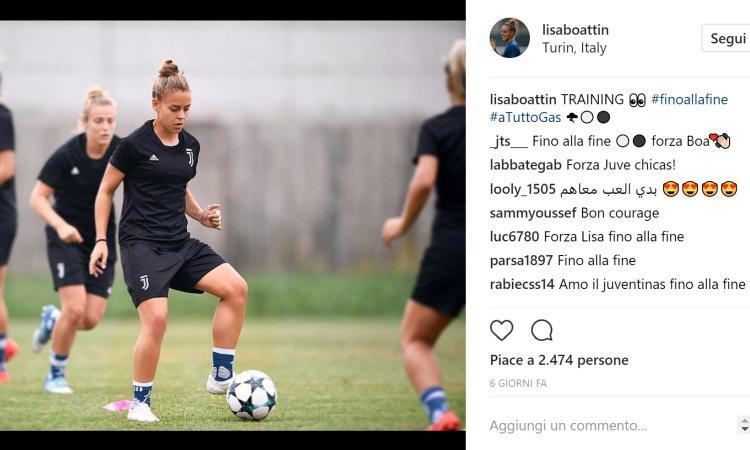 Juventus Women, Boattin: 'Voglio imitare Douglas Costa!'