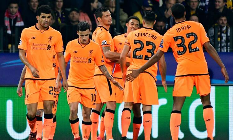 Champions: Liverpool da sballo, pari Real. Volano Spartak e Shakhtar
