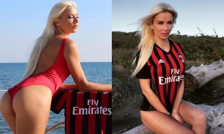Martina cuore Milan per il derby FOTO