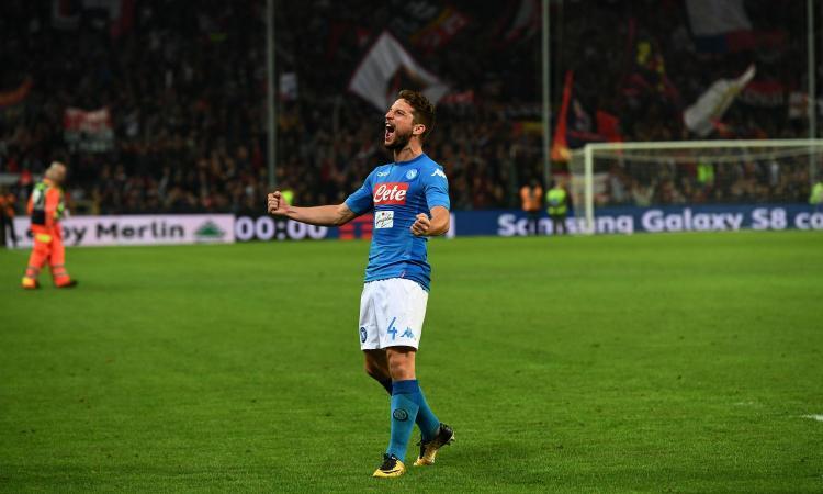 Napoli, Mertens: 'Dovevamo chiudere la partita, il Genoa gioca sporco. Il secondo gol...'