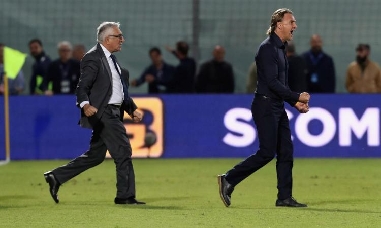 Crotone, Nicola: 'Che gioia battere la Fiorentina, quando esprimiamo le nostre qualità siamo competitivi'