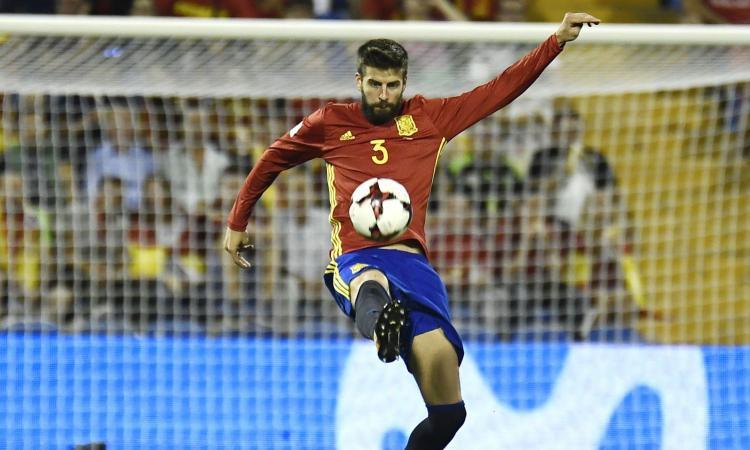 Spagna, niente Israele per Piqué
