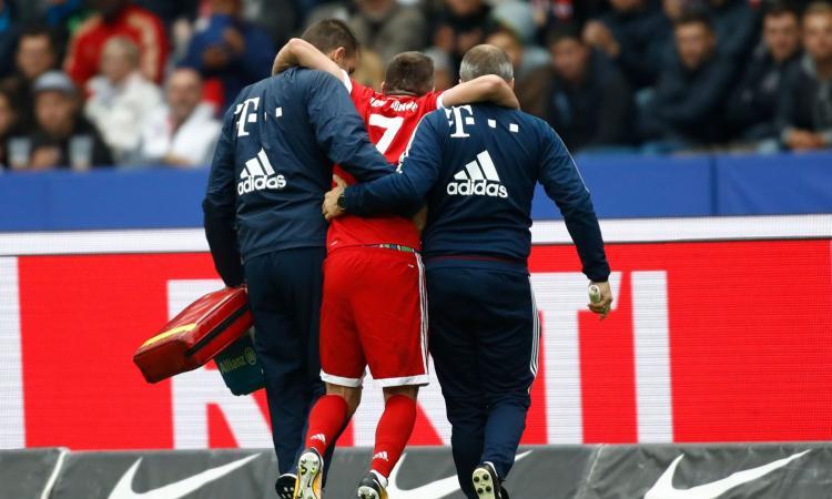 Tegola Bayern Monaco: rottura dei legamenti del ginocchio per Ribery